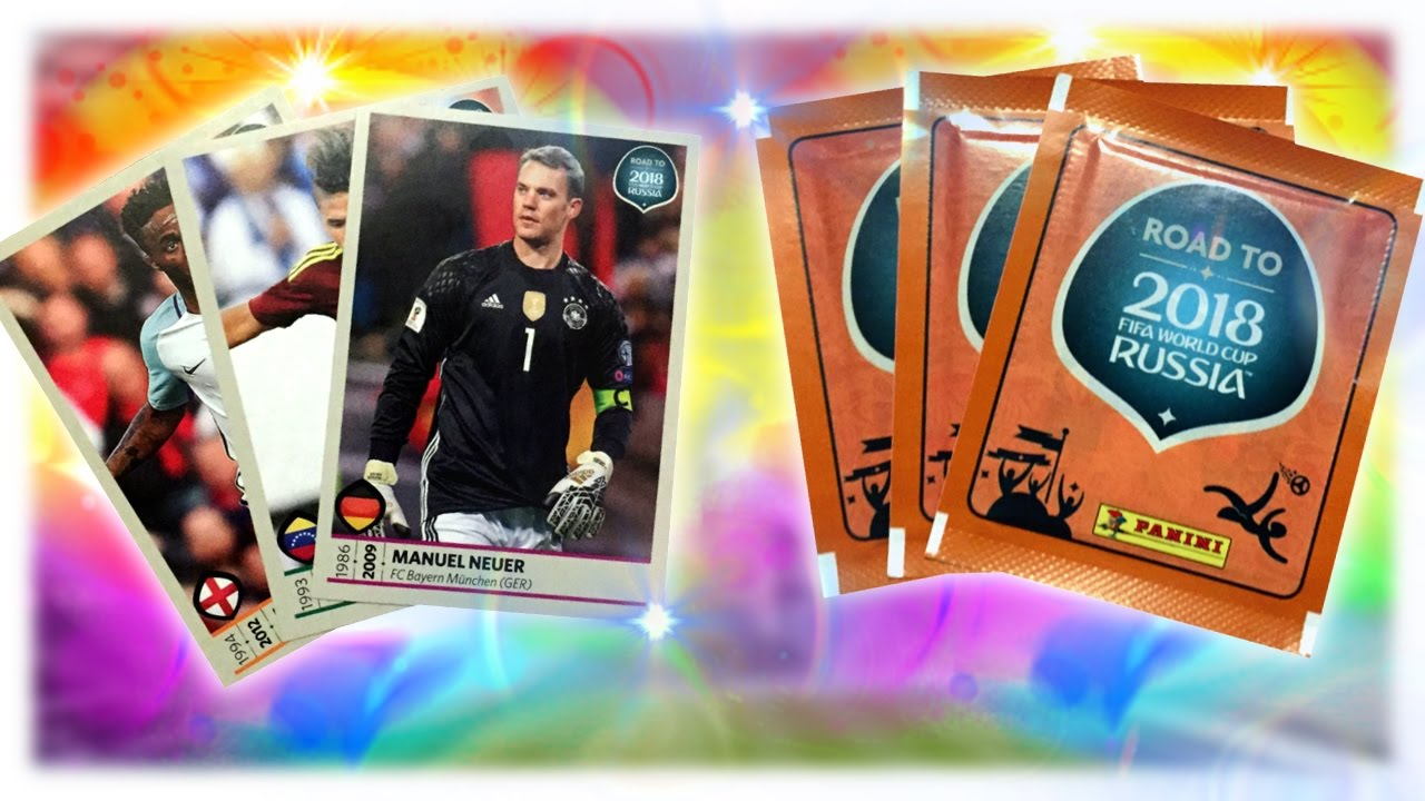 Sticker unboxing - Panini Road To Wm 2018 Russia Sticker Unboxing Opening