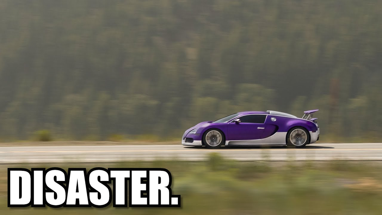 Bugatti Veyron Top Speed Test.