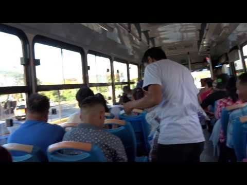 Ride on a local bus in Managua, Nicaragua