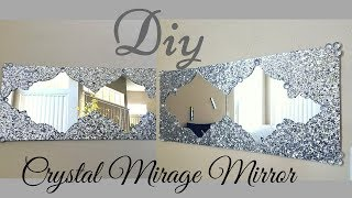 Diy Crystal Mirage With Mirror Wall Decor Quick and Easy Wall Decorating Idea