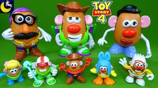 Lots of Mr Potato Head Toy Story 4 Toys Funny Mix and Match Bo Peep Woody Buzz Best Kids Videos