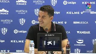 Rueda de prensa de Míchel tras el SD Huesca vs Girona FC (1-0)