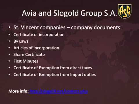 St Vincent Offshore Company Information - Slogold