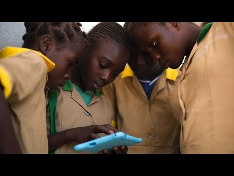 Displaced children in Cameroon go online for the first time