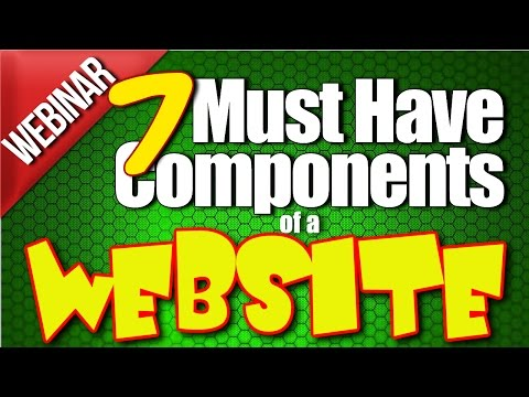7 Must Have Components of a Website - Webinar With Jack Hopman