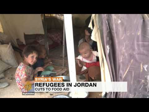 Syrian refugees in Jordan go hungry as food aid stops