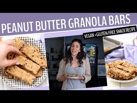 PEANUT BUTTER GRANOLA BARS | A Healthy, Gluten-Free + Vegan Snack Recipe