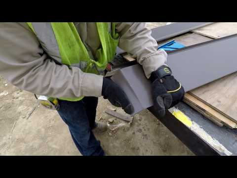 Standing Seam Metal Awning Installation Video