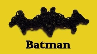 Batman Symbol/Bat Charm - How to Rainbow Loom Design -Logo/Symbol Series