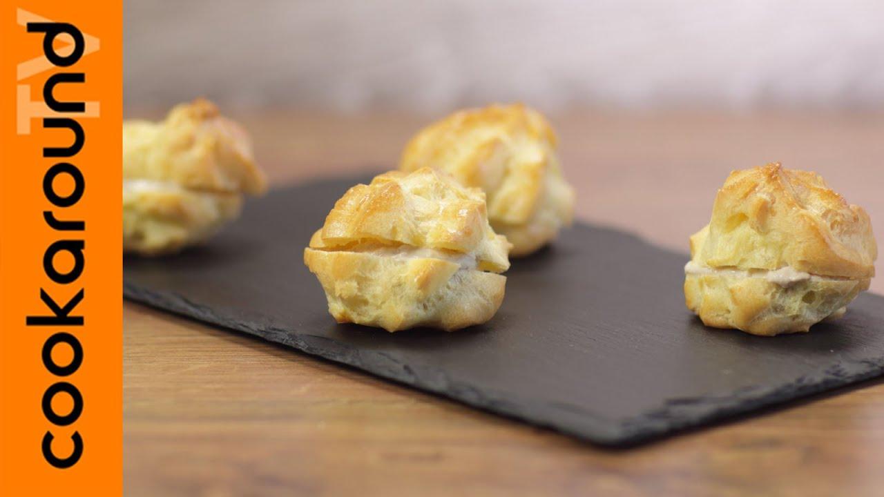 Buffet Natalizio Cookaround : Bignè salati farciti con salsa al tonno ricetta semplice e veloce