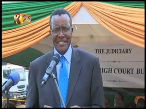 CJ Maraga lays foundation stone for construction of Mombasa High Court