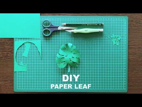 DIY Paper Palm Leaf   Margaret Scrinkl