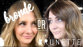 BRONDE OR BRUNETTE?! THE PROCESS OF GOING LIGHTER