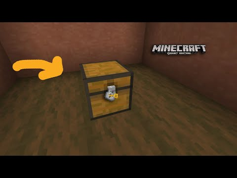 How to make a Working Locker Chest(Command Block)-Minecraft