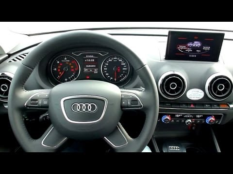 2012 Audi A3 2.0 TDI Ambition Interieur in Detail [8/11] - YouTube