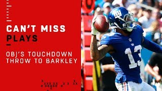 OBJ Throws TD to Saquon Barkley!!! 🚨TRICK PLAY ALERT🚨