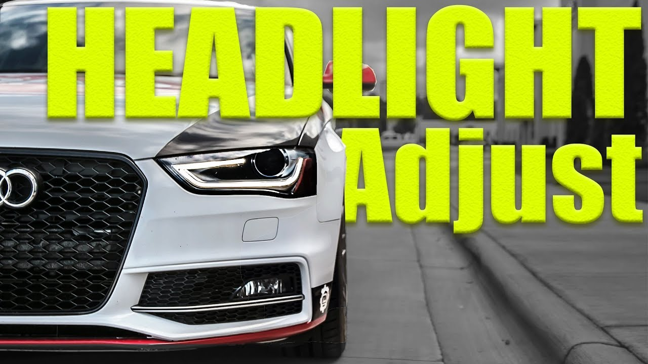 Adjusting Xenon Headlights on Lowered VW and Audi's | Project S4