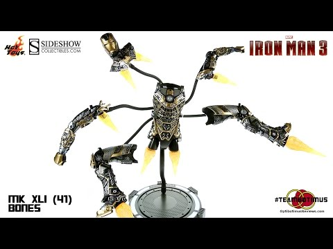 Video Review of the Hot Toys Iron Man 3: Mark XLI (41) Bones