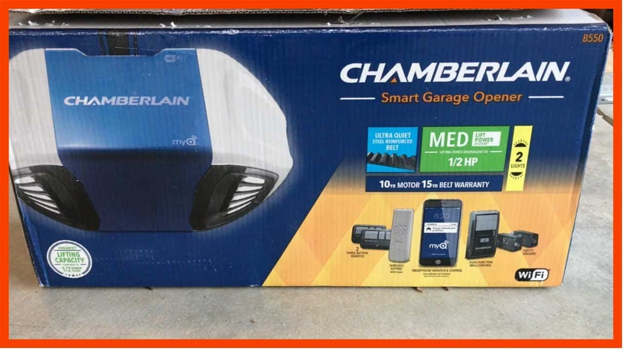 How To Install Chamberlain B550 Wifi Garage Door Opener Control