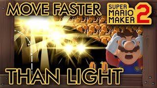 Super Mario Maker 2 - Mario Moves Faster Than Light in This Unique Level