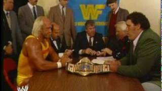 Hulk Hogan & Andre The Giant Contract Signing