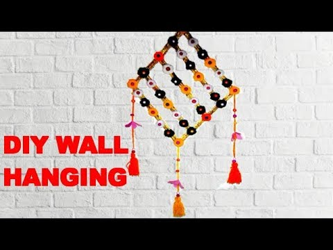 Diy Wall Hanging Craft Ideas | Diy Unique Wall Hanging | Diy Wall Decoration For Home