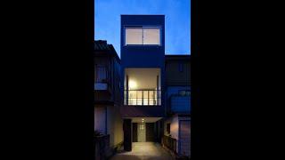 アイデア住宅ー3…細長い敷地