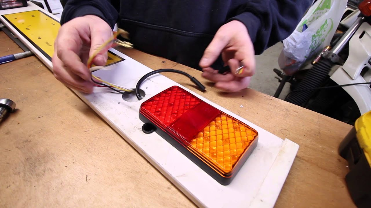 How To Wire LED Trailer Lights - YouTube