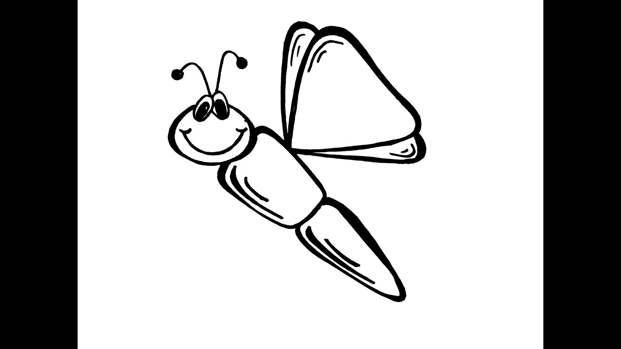 drawing lesson how to draw a dragonfly youtube