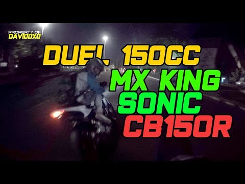 All New CB150R Mau Elbow Down - Sonic150 vs MX King vs All New CB150R