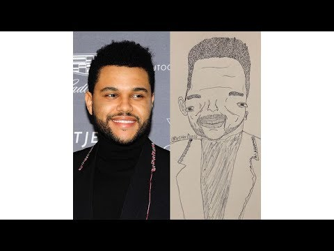Fan Art By @Tw1tterPicasso   Logic, The Weeknd, and more