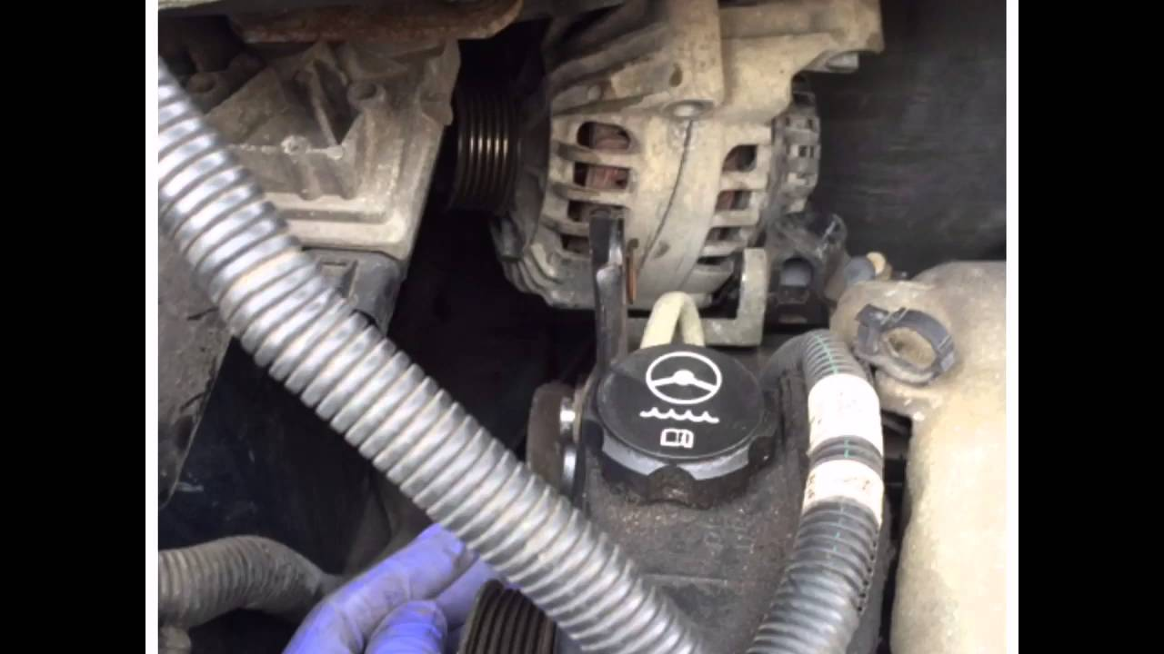 Buick rendezvous alternator replacement - YouTube