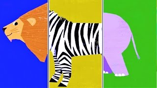 """Baby Play """"Animal Match Up"""" ! Learn Animal Names Combined Real Animals"""