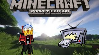 Minecraft pe modsuz çalışan televizyon yapımı ?!?