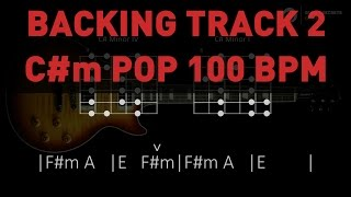 Backing Track 2 - C#m Pop 100 bpm
