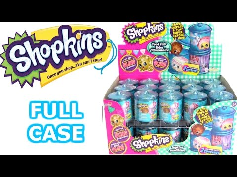 Shopkins Food Fair Blind Canister Opening Entire Full Case