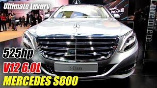 2015 Mercedes Benz S Class S600 Exterior and Interior Walkaround Debut at 2014 Detroit Auto Show