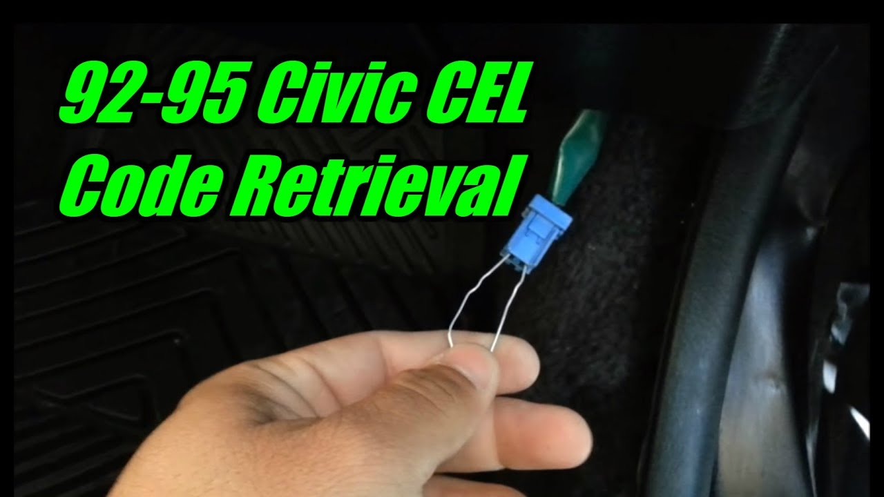 1994 honda civic check engine light code retrieval tutorial [ 1280 x 720 Pixel ]