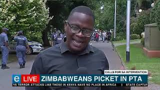 Zimbabweans in SA picket outside commissioner's office