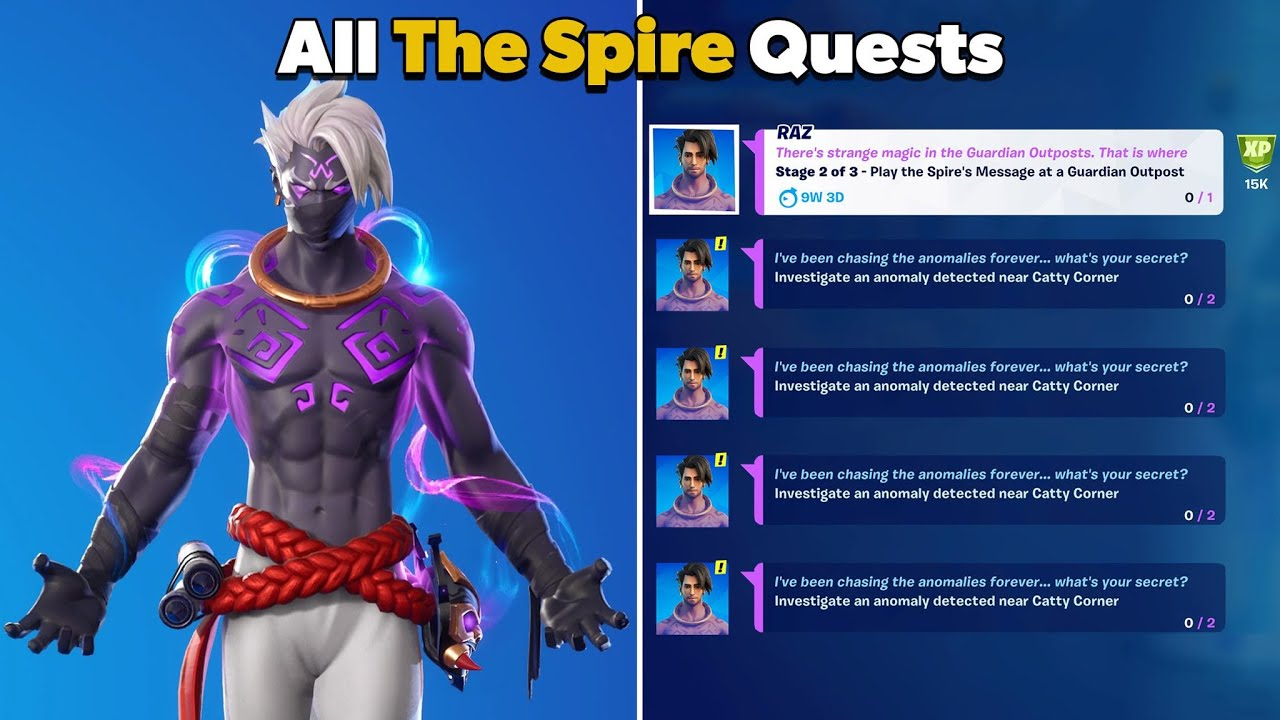 How to Complete All The Spire Quests in Fortnite (The Spire Challenges)