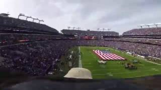 'Challenger' The Eagle Flies Through M&T Bank Stadium During National Anthem | Baltimore Ravens