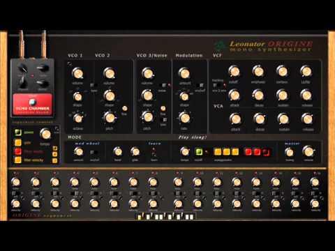 leonator origine mono synthesizer hakkepuf drum machine vst youtube. Black Bedroom Furniture Sets. Home Design Ideas