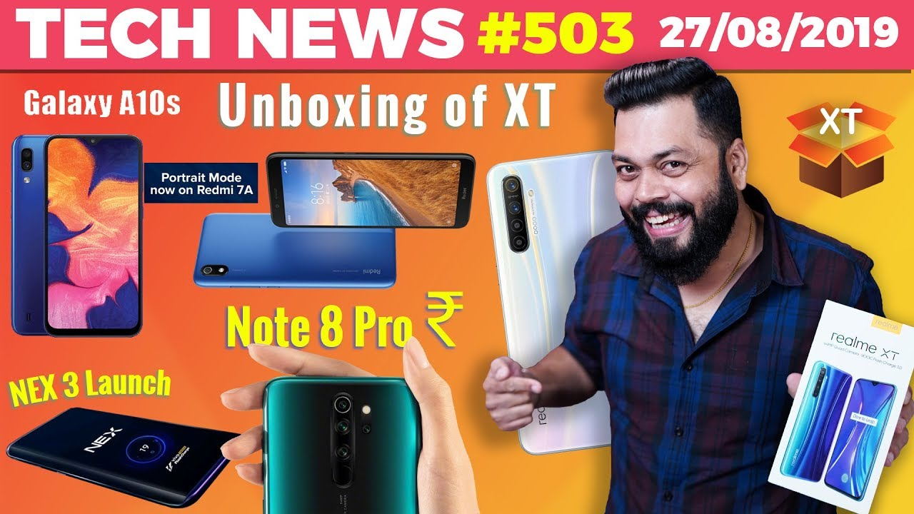 Redmi Note 8 Pro Price, Realme XT Unboxing, vivo NEX 3 Launch, Redmi 7A Portrait,Galaxy A10s-TTN#503