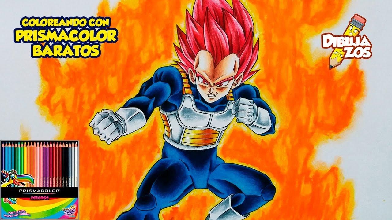 Goku Super Sayayin Dios Azul Para Colorear: COMO DIBUJAR A VEGETA SSJ DIOS ROJO
