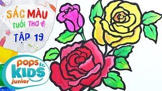 Sắc Màu Tuổi Thơ - Tập 19 - Bé Tập Vẽ Hoa Hồng | How To Draw A Rose Flower