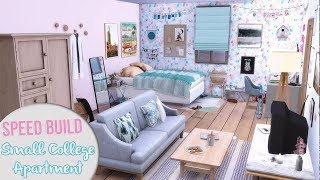 SMALL COLLEGE APARTMENT + CC Links | The Sims 4 Speed Build