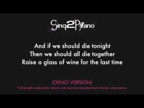 I See Fire Female Key Piano Karaoke Demo Ed Sheeran