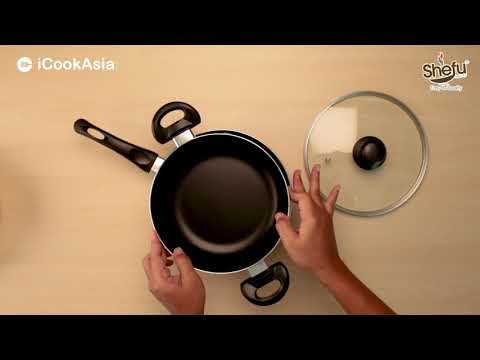 UNBOXING: SHEFU 22cm Caserole with lid & 24cm Frying Pan | Periuk & Kuali Non-Stick | iCookAsia Shop