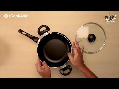 UNBOXING: SHEFU 22cm Caserole with lid & 24cm Frying Pan   Periuk & Kuali Non-Stick   iCookAsia Shop