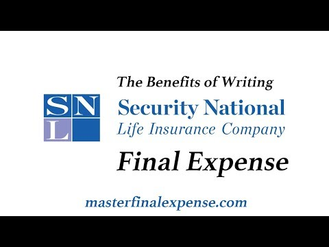 Benefits of writing Security National Life Final Expense